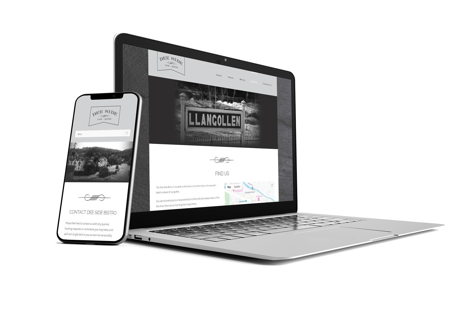 Deeside Bistro Website Designers in Llangollen Denbighshire