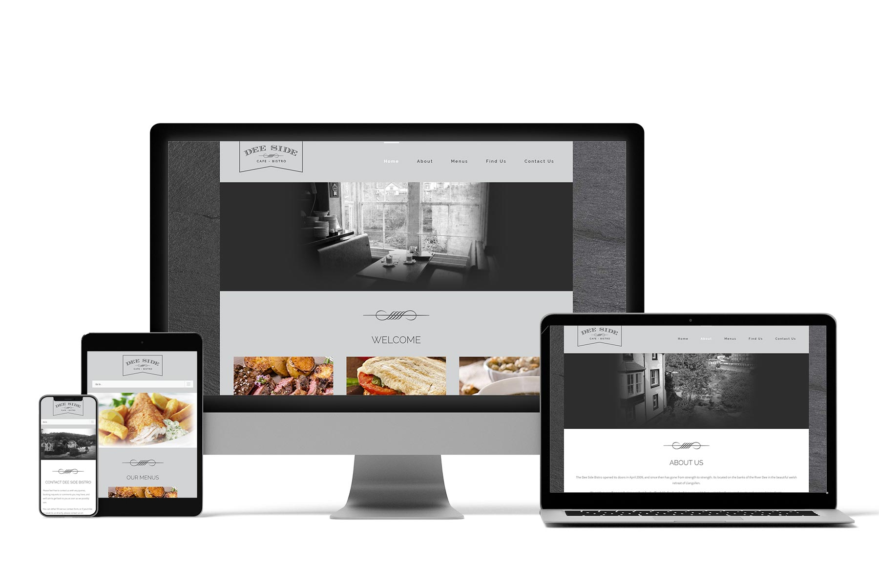 Deeside Bistro Website Design Llangollen Denbighshire
