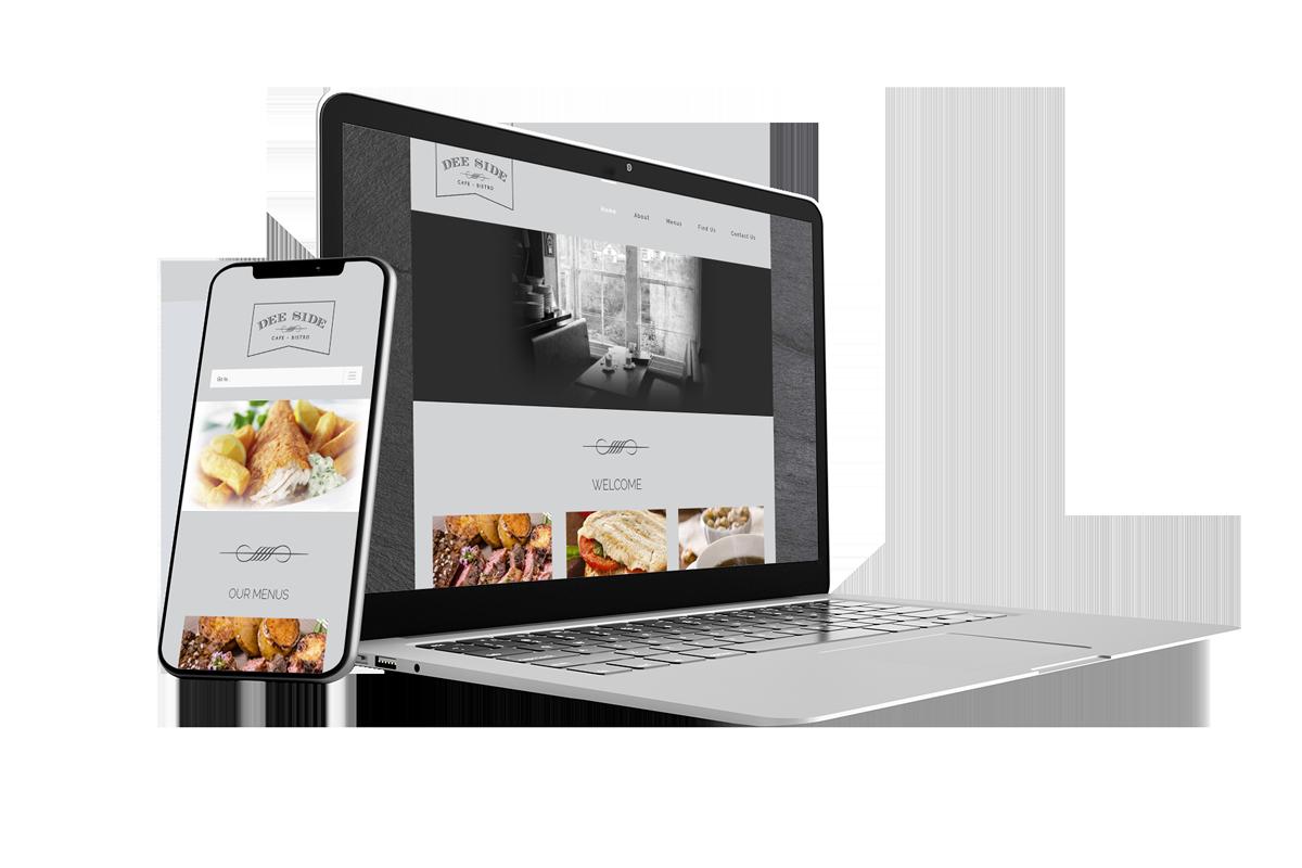 Brochure Website Design for Restaurant Deeside Bistro Llangollen