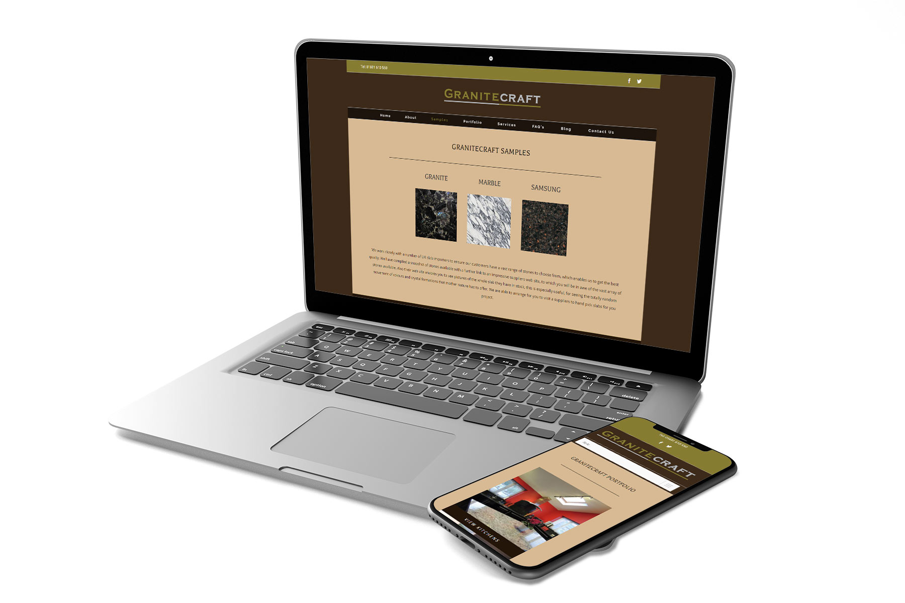 Brochure Website Design for Granitecraft Shropshire design agency