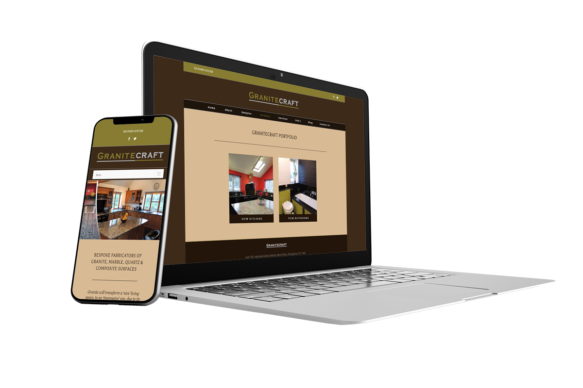 Granitecraft Brochure website for small business by now web design