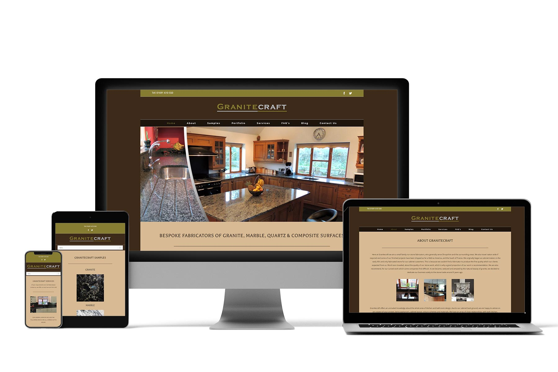 Granitecraft Brochure website by now web design