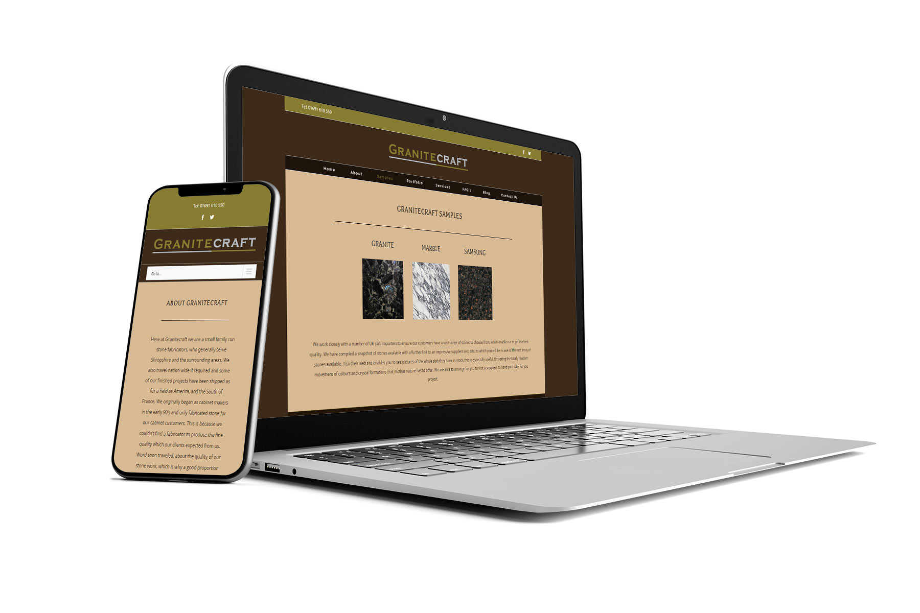 Granitecraft Brochure website design by now web design