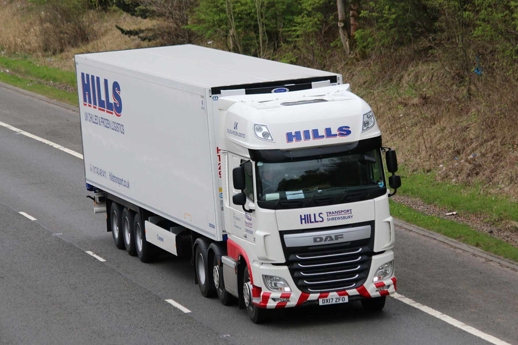 Haulage and transport website design for Hills Transport Shropshire Web Agencies