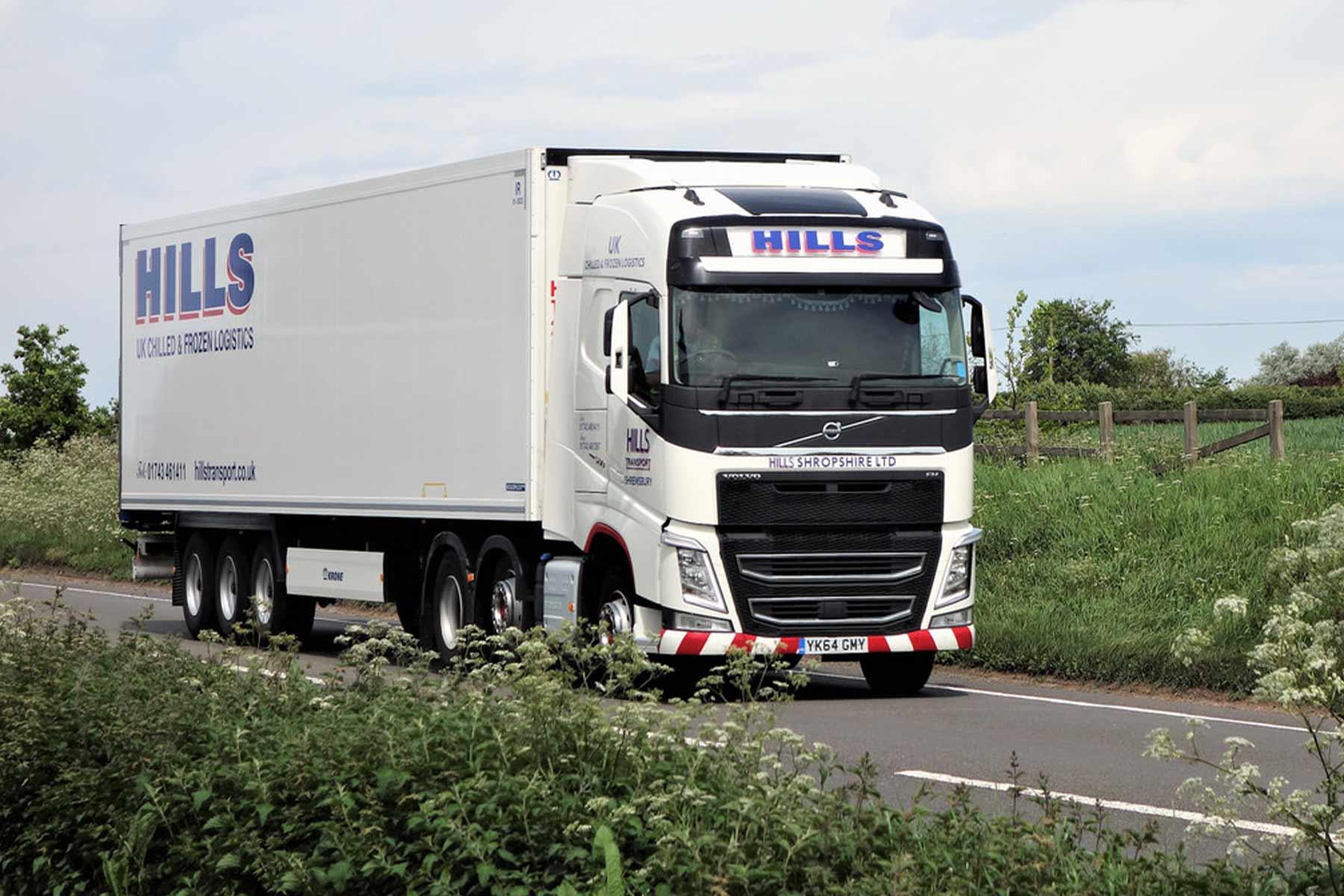 Haulage website design for Hills Transport Shropshire Web Agencies